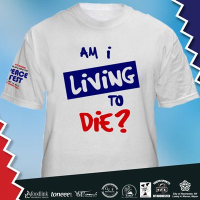 """Am I Living To Die"" T-Shirt"